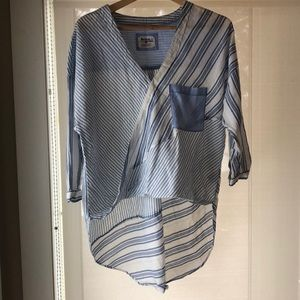 HOLDING HORSES Tops - Anthropologie High-low Blouse